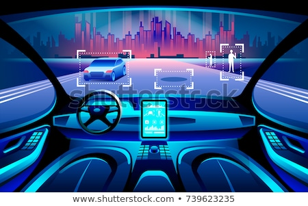Autonomous taxi concept vector illustration. Stock photo © RAStudio