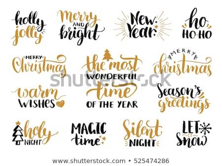 Boldog ünnepek meleg kívánságok vidám fényes Stock fotó © robuart