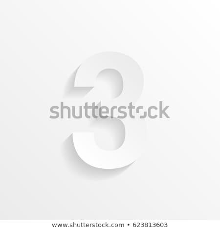 Number three on white background. Isolated 3D illustration Stock photo © ISerg