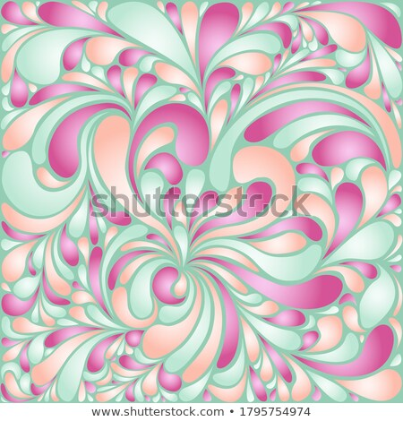 awesome abstract fluid shapes background ストックフォト © SArts