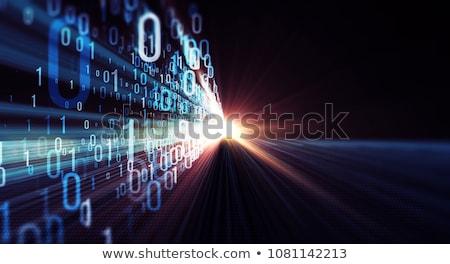 perspectief · binaire · code · gegevens · stroom · internet · communicatie - stockfoto © artida