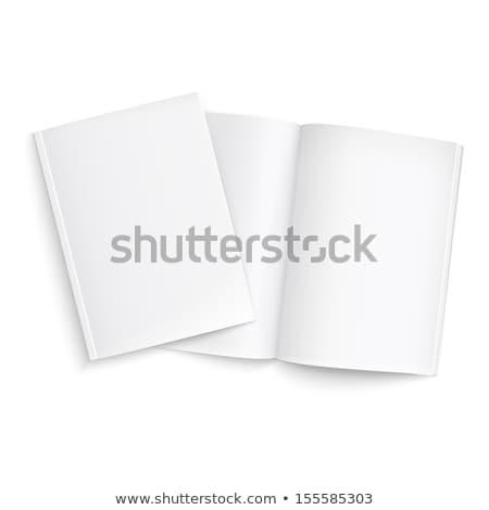 Nyitva zárva könyv szürke kinyitott árnyék Stock fotó © romvo