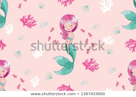Swimming fairy mermaid Stock photo © jossdiim