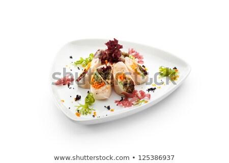 krab · salade · tomaten · paprika · kaas · glas - stockfoto © Melnyk