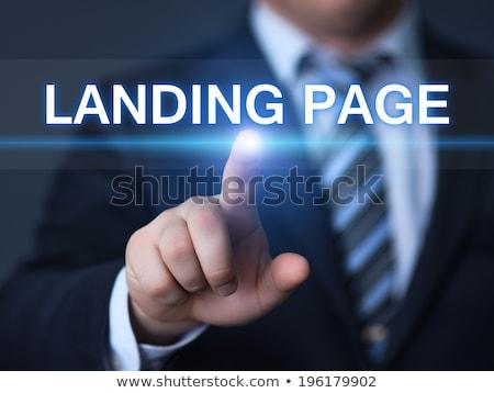 Push advertising concept landing page. Stock photo © RAStudio