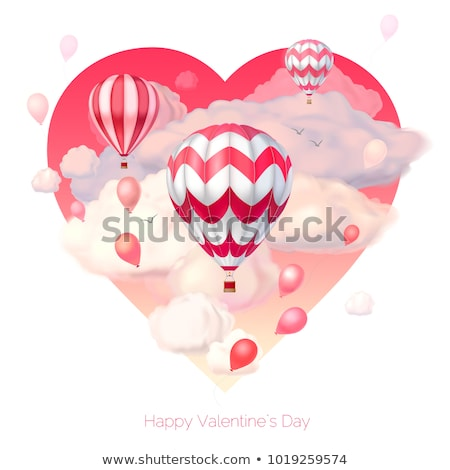 Semitransparent red heart shape isolated Stock photo © Arsgera