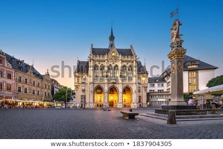 Niemcy widoku historyczny miasta centrum budynku Zdjęcia stock © borisb17