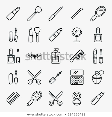 Set of cosmetics beauty and makeup icons. Stock photo © jossdiim