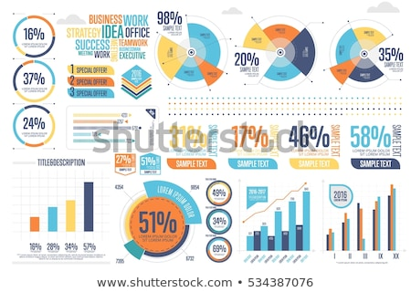 Business grafische charts graphics vector Stockfoto © robuart