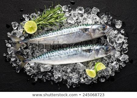 Közelkép egész asztal felső étel egészséges étkezés Stock fotó © dolgachov