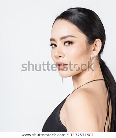 Glamour, beauty, jewelry and luxury concept. Beauty model Stock photo © serdechny