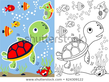 fish animal characters group coloring book stock photo © izakowski