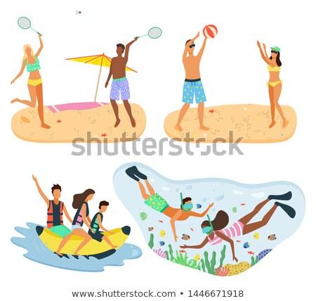 теннис волейбол дайвинг Подводное плавание человека Сток-фото © robuart