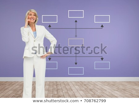 Businesswoman and Colorful mind map over room background Stock photo © wavebreak_media