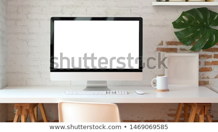 Creative · équipe · travail · utilisateur · interface · bureau - photo stock © dolgachov