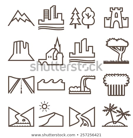 Nature and City, Road and Waterfall Desert Set Stock photo © robuart