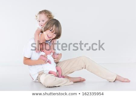 美しい 子供 代 少年 小さな 姉妹 ストックフォト © Lopolo