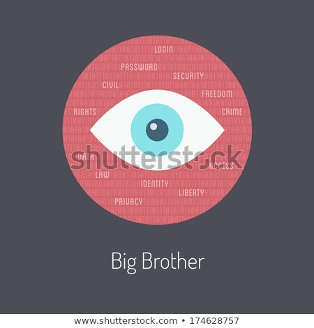 online privacy safety metaphor flat vector illustration stock photo © decorwithme