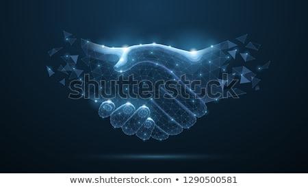 Aperto de mão assinar negócio colaboração vetor aperto de mãos Foto stock © robuart