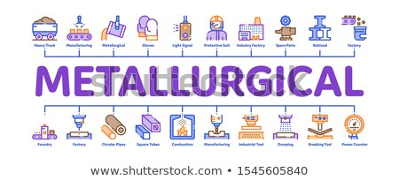Metallurgical Minimal Infographic Banner Vector Stock photo © pikepicture