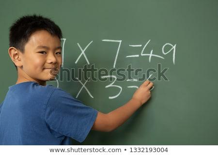 Frente vista Asia colegial matemáticas aula Foto stock © wavebreak_media