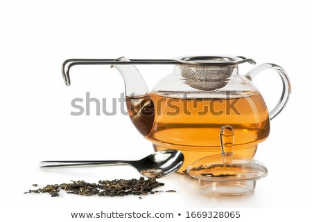 Transparent mug with hot water on kitchen Stock photo © dariazu