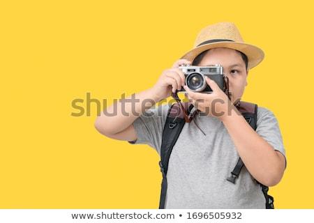 Digitale camera illustratie gelukkig kinderen kind Stockfoto © bluering