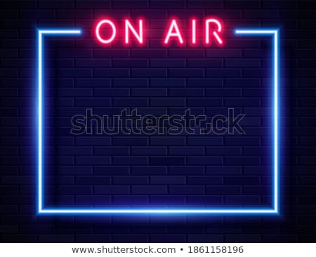On Air Sign, Radio Studio Concept Stock photo © olivier_le_moal