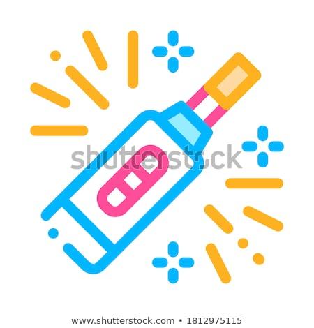 Schwangerschaftstest Gerät Vektor dünne line Zeichen Stock foto © pikepicture