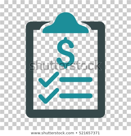 Price List Financial Document File Vector Icon Stock photo © pikepicture
