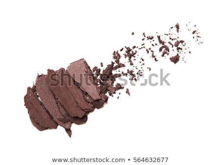 Eyeshadow palette and make-up brush on chocolate background, eye Stock photo © Anneleven