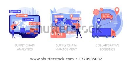 Logistique contrôle vecteur métaphores livraison Ouvrir la Photo stock © RAStudio