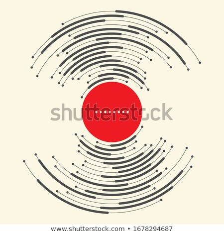 red and black circular halftone abstract background Stock photo © SArts