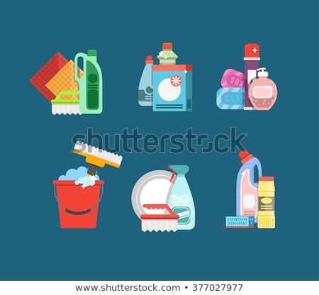 Hygiène produits nettoyage bain Photo stock © foxbiz