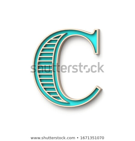Classic old fashioned font Letter C 3D Stock photo © djmilic