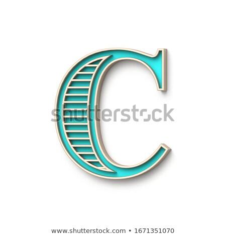 классический старомодный шрифт буква С 3D 3d визуализации Сток-фото © djmilic