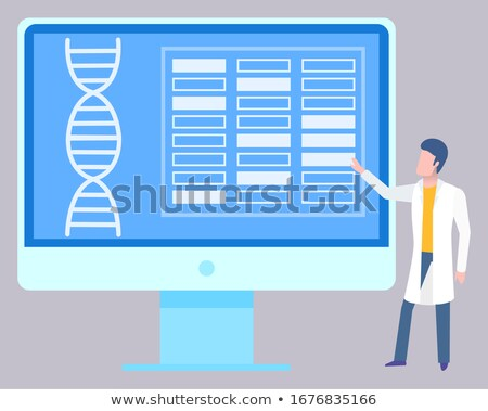 Medical Report DNA Helix Structure on Monitor Stock photo © robuart