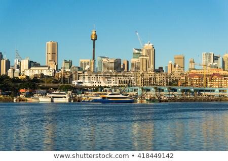 Sydney cielo azul rascacielos espacio de la copia Foto stock © ShustrikS