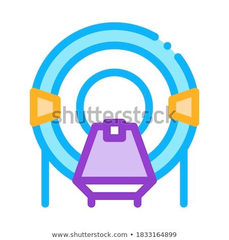 Plaats solarium icon vector schets illustratie Stockfoto © pikepicture