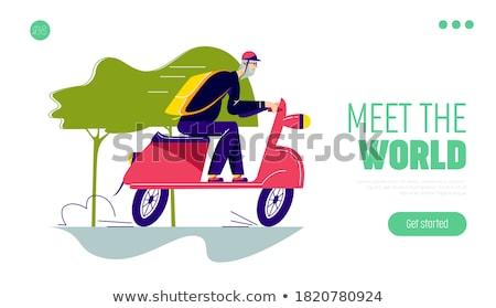 Retirement travel concept landing page Stock photo © RAStudio