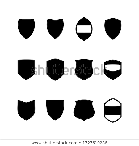 Shield with Emblem, Icon Pixel Style Defensive Stock photo © robuart