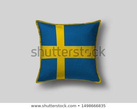 Párna zászló Svédország izolált fehér utazás Stock fotó © magraphics