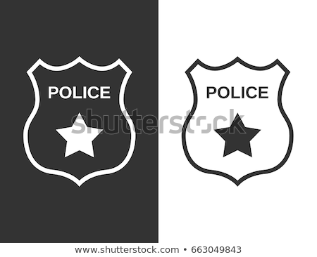police department icon set Stock photo © ayaxmr