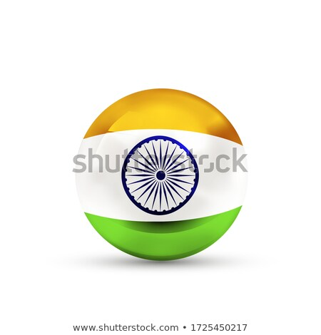 India bandera esfera blanco aislado Foto stock © evgeny89