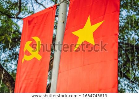 Communist badges Rood hamer star ussr Stockfoto © galitskaya
