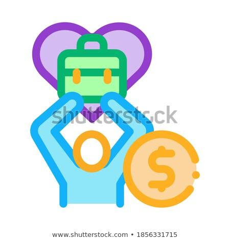 Prediletto soldi lavoro icona vettore contorno Foto d'archivio © pikepicture