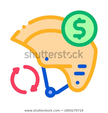 safety helmet paid service icon vector outline illustration Stock photo © pikepicture