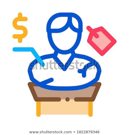 architectural bust sale icon vector outline illustration Stock photo © pikepicture