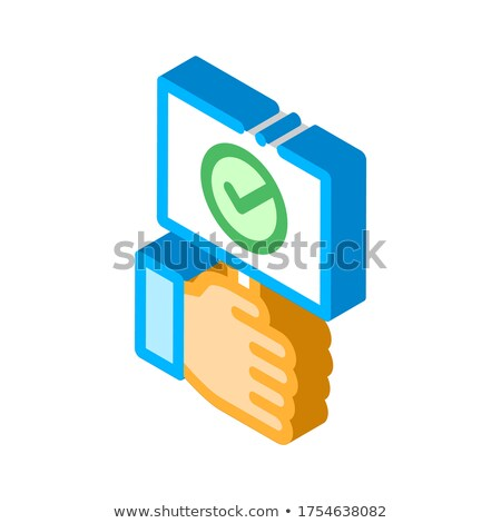 Mão comprimido aprovado isométrica Foto stock © pikepicture