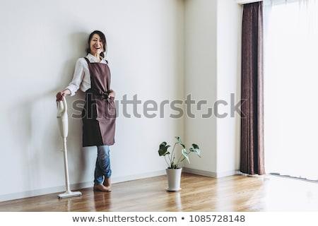 アジア 女性 真空掃除機 ホーム 家庭 家事 ストックフォト © dolgachov